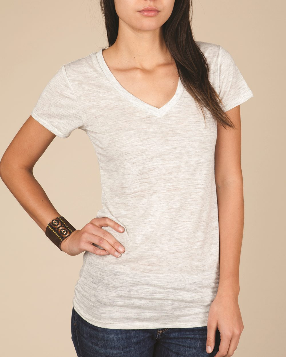 Alternative 2662 - Ladies' Diane V-Neck Burnout T-Shirt