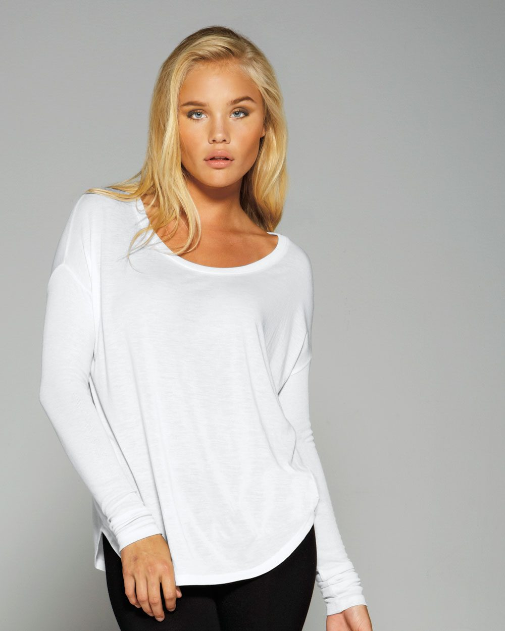 Bella 8852 - Ladies' Flowy Long Sleeve T-Shirt With ...