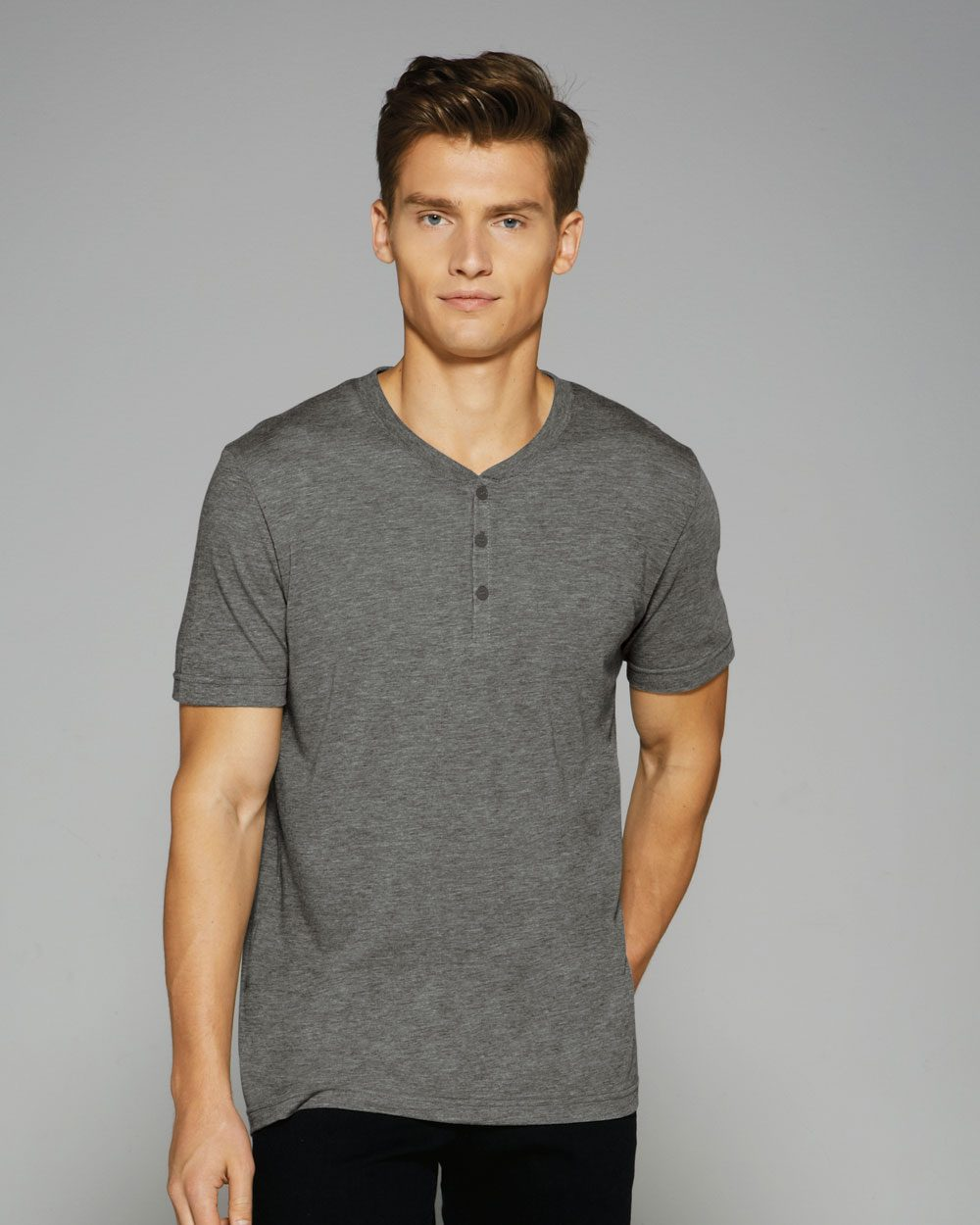 702286b803f6 Canvas 3125 - Short Sleeve Henley $10.60 - Men's T-Shirts