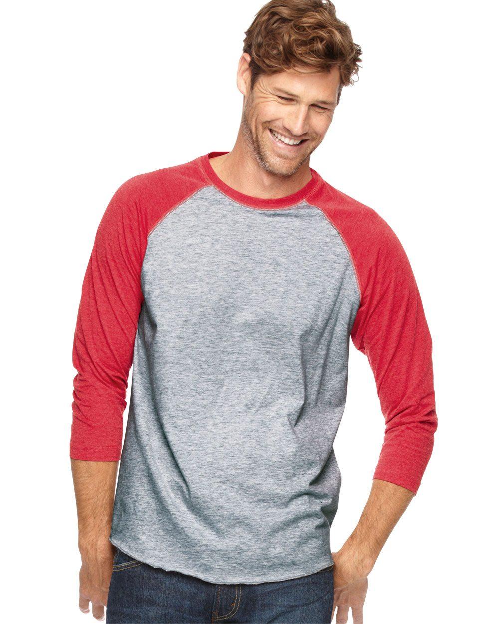 LAT 6930 - Fine Jersey 3 4 Sleeve Baseball T-Shirt 4593e658d