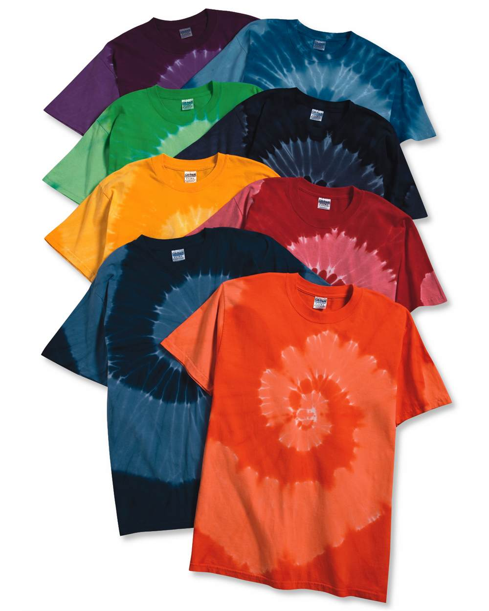 Tie-Dyed 20021 - Tone-on-Tone Spiral T-Shirt