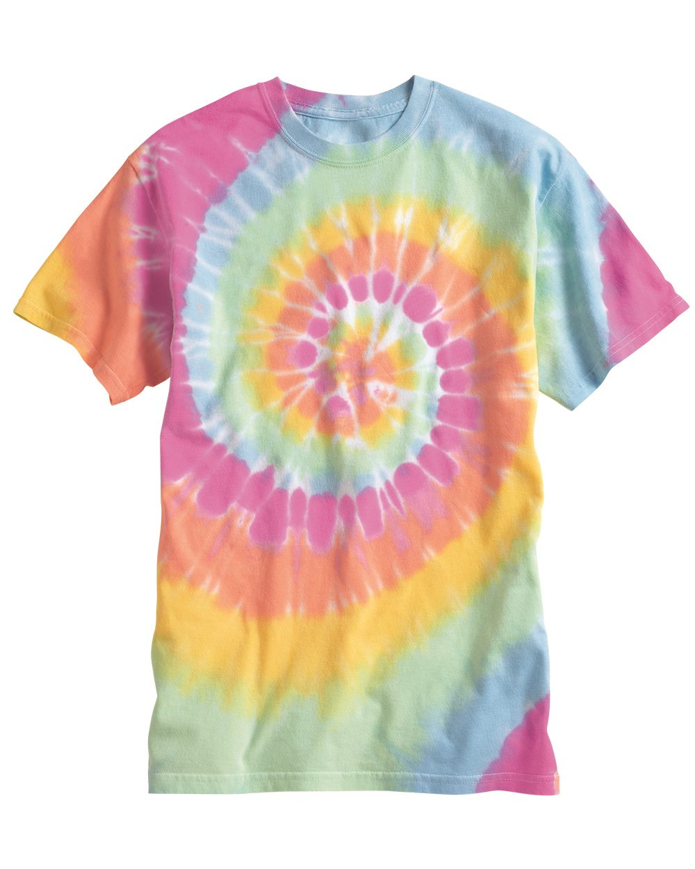 4ef256cacf22 Dyenomite 200MS Multi-Color Spiral Short Sleeve T-Shirt $9.95 - T Shirts