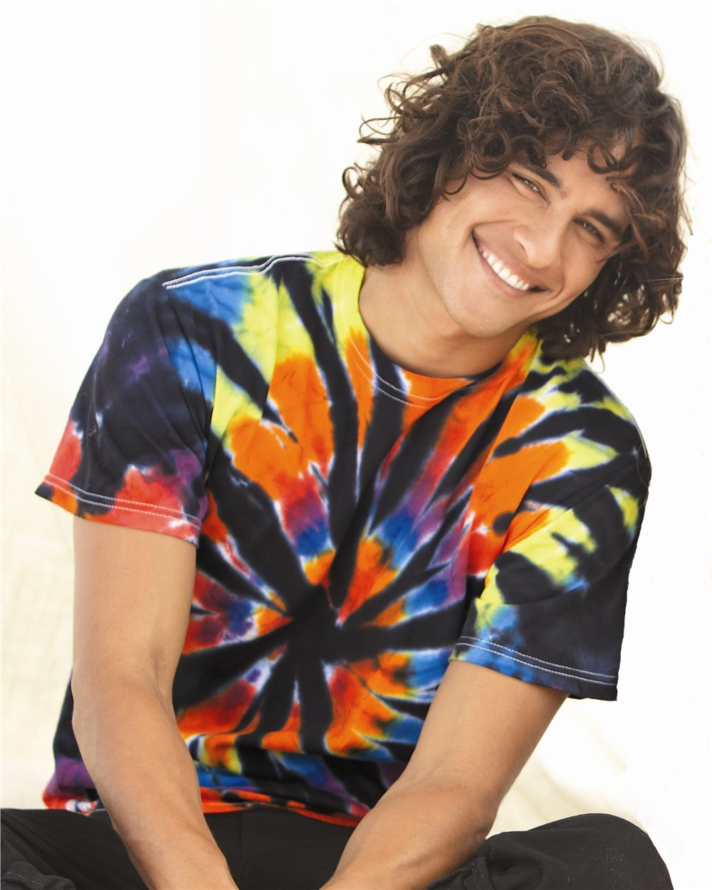 Tie-Dyed 200TD - Short Sleeve Rainbow Cut-Spiral T-Shirt