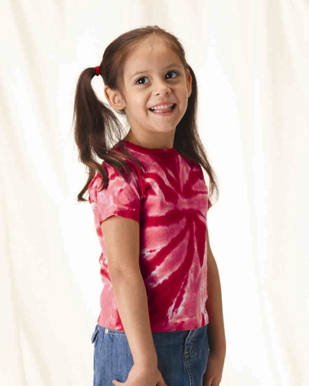 Tie-Dyed 331TT - Toddler Tone-on-Tone Pinwheel Short Sleeve T-Shirt