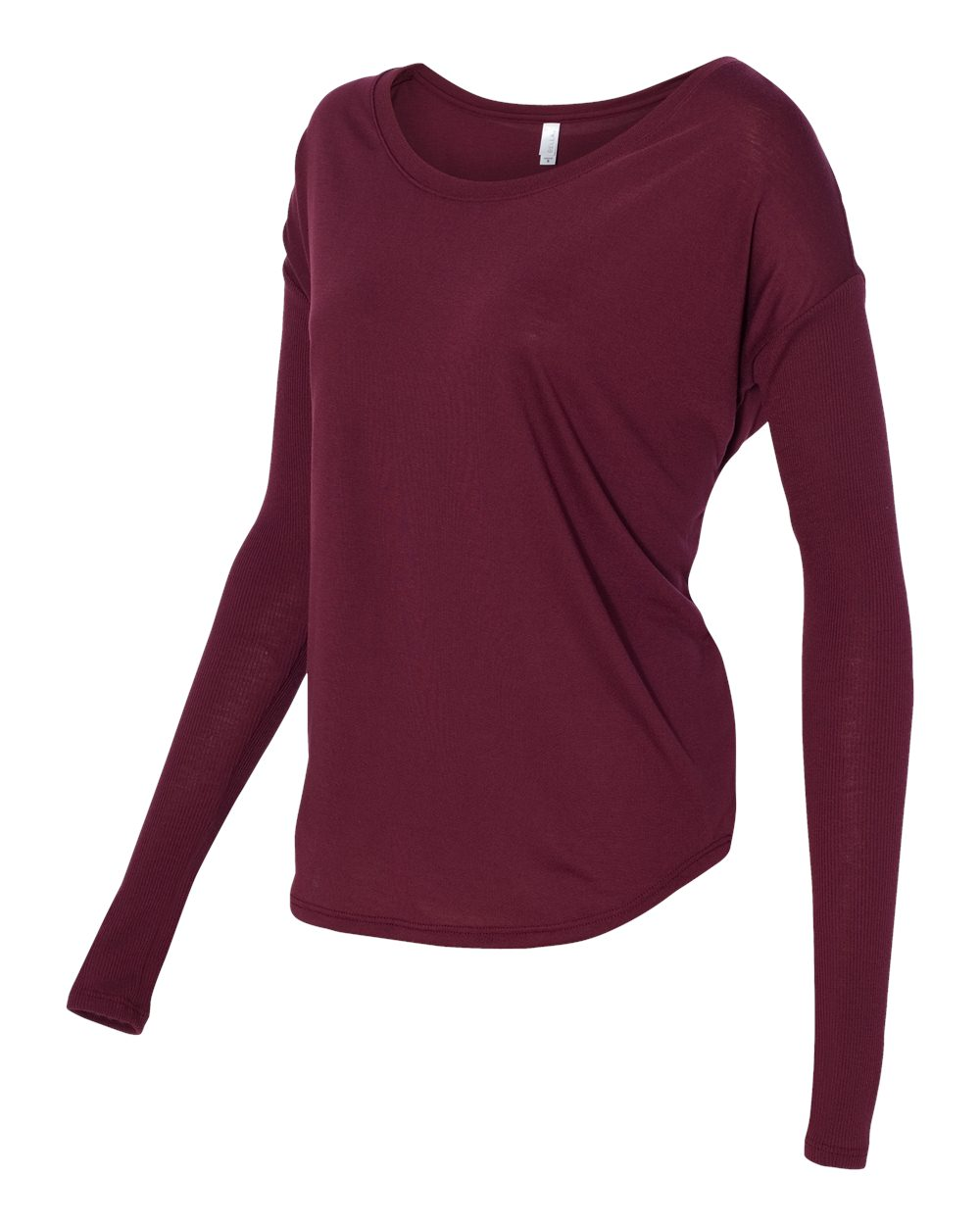 Bella 8852 - Ladies' Flowy Long Sleeve T-Shirt With 2x1 Rib ...