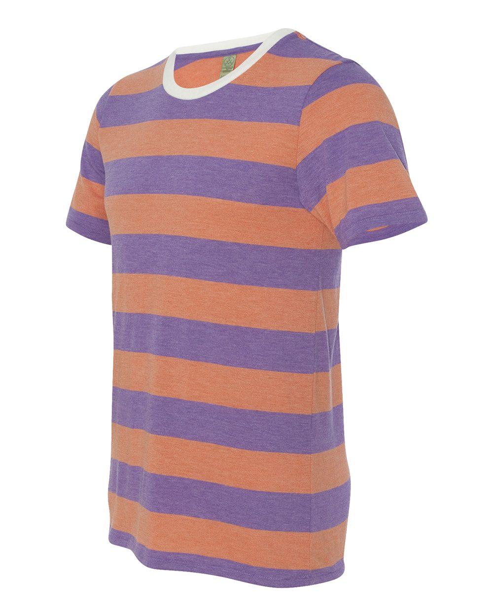Alternative 1935ej - Eco Jersey Ugly Stripe Short Sleeve T-Shirt
