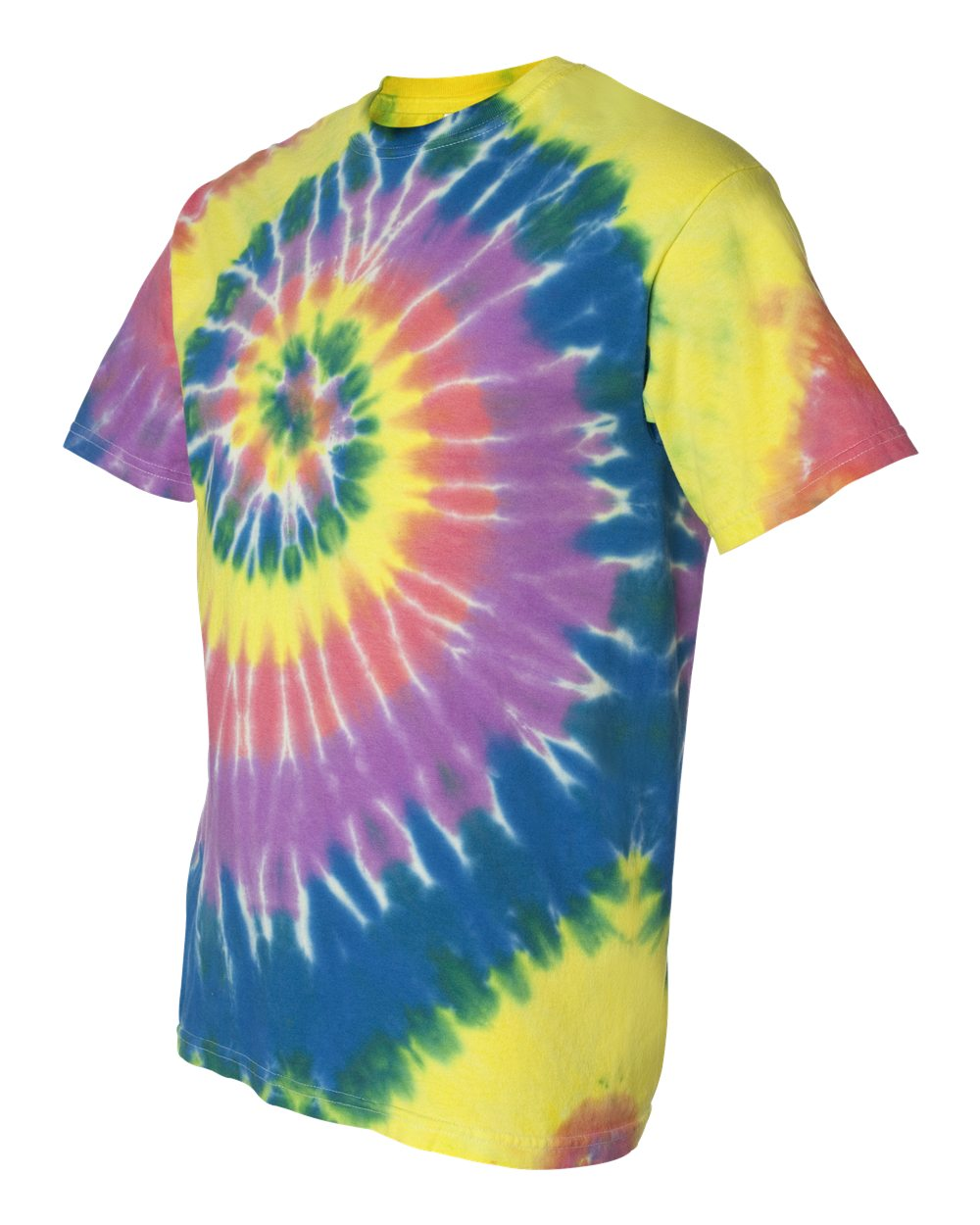 Tie-Dyed 200MS - Multi-Color Spiral Short Sleeve T-Shirt