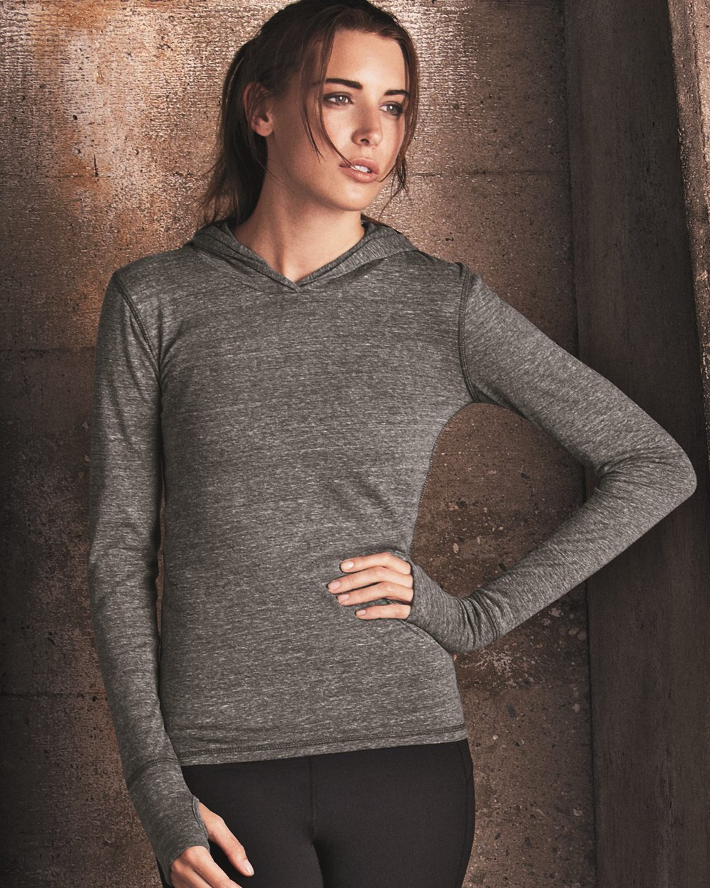 f68dff64bcfe4 alo - Ladies' Triblend Long Sleeve Hooded Pullover $15.23 - Women's Sport  Shirts