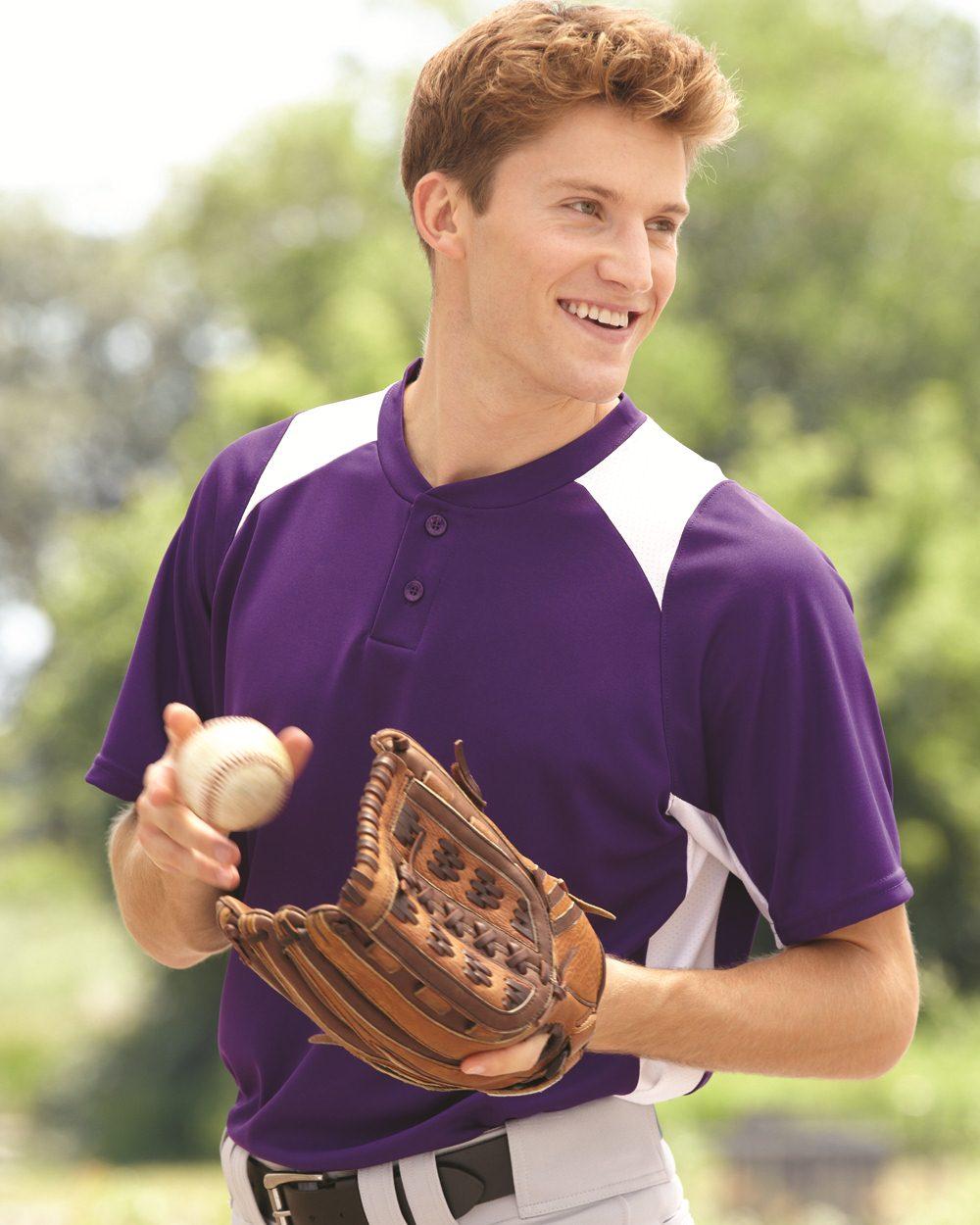 Augusta Sportswear 1520 - Gamer Colorblocked Baseball Henley