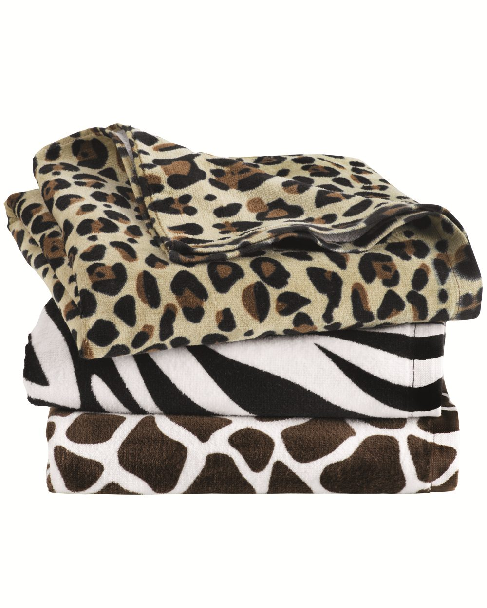 Carmel Towel Company C3060P - Animal Print Velour Beach Towel