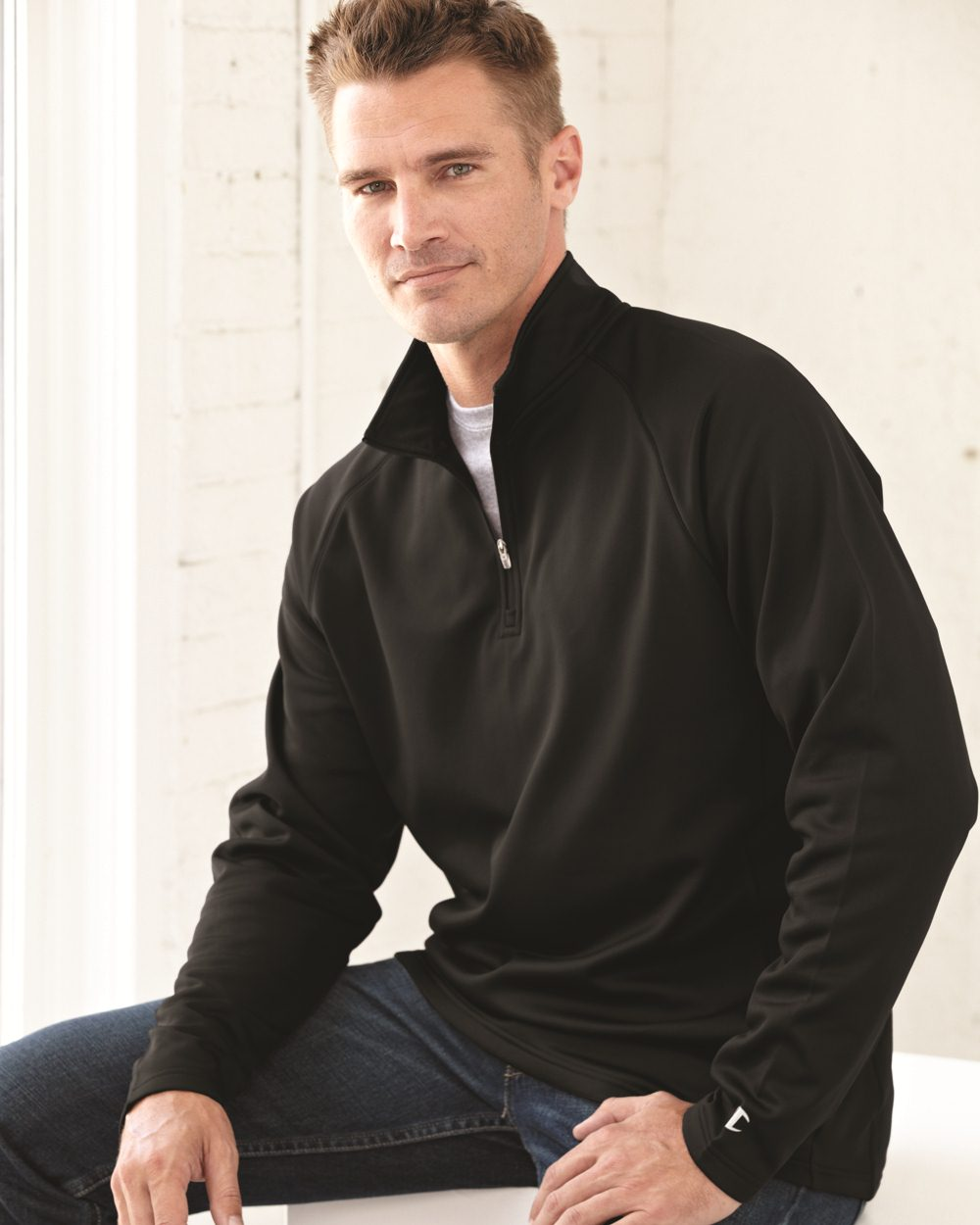 Champion S230 - Colorblocked Performance Quarter-Zip ...