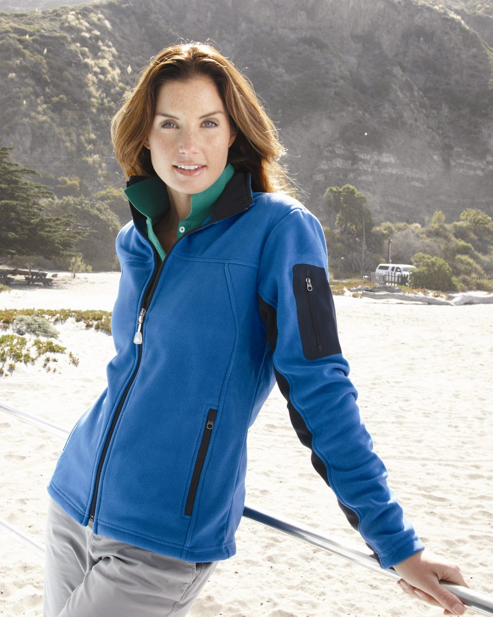 Colorado Clothing 5297 - Ladies' Colorblocked Full-Zip Microfleece Jacket