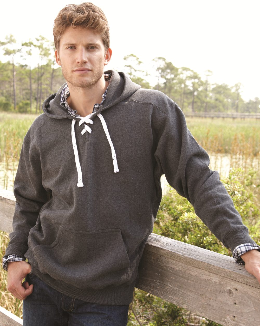 J America 8830 - Sport Lace Hooded Sweatshirt