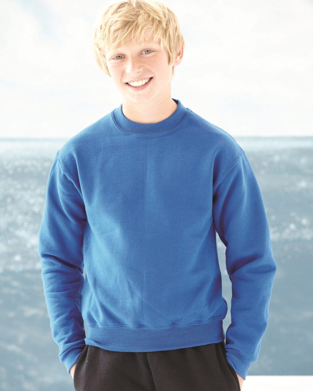 JERZEES 4662BR 运动衫中青年青少年圆领运动衫