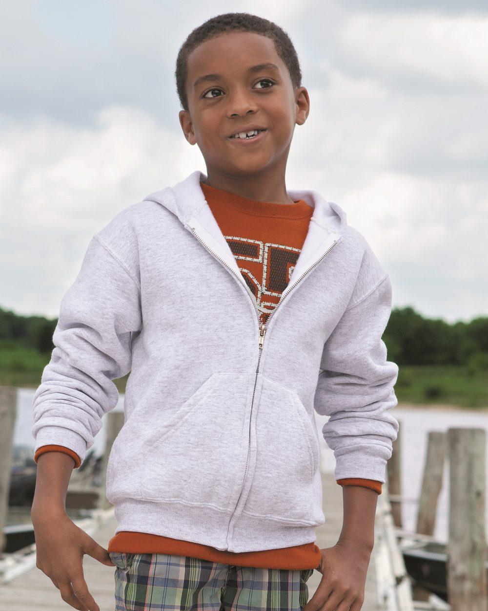 JERZEES 993BR - NuBlend Youth Full-Zip Hooded Sweatshirt