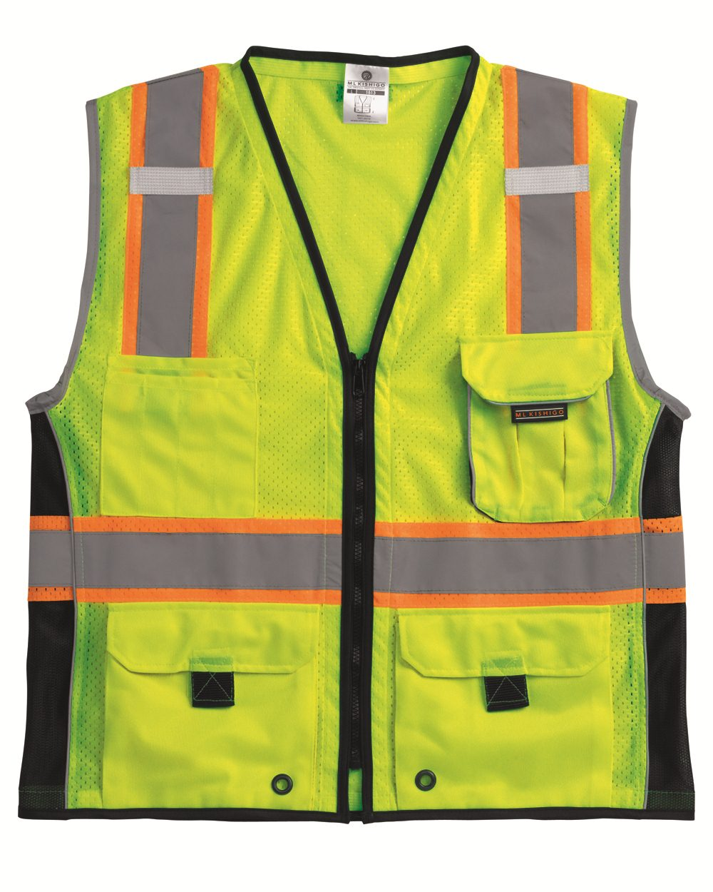 ML Kishigo 1513-1514 - Black Series Heavy Duty Vest