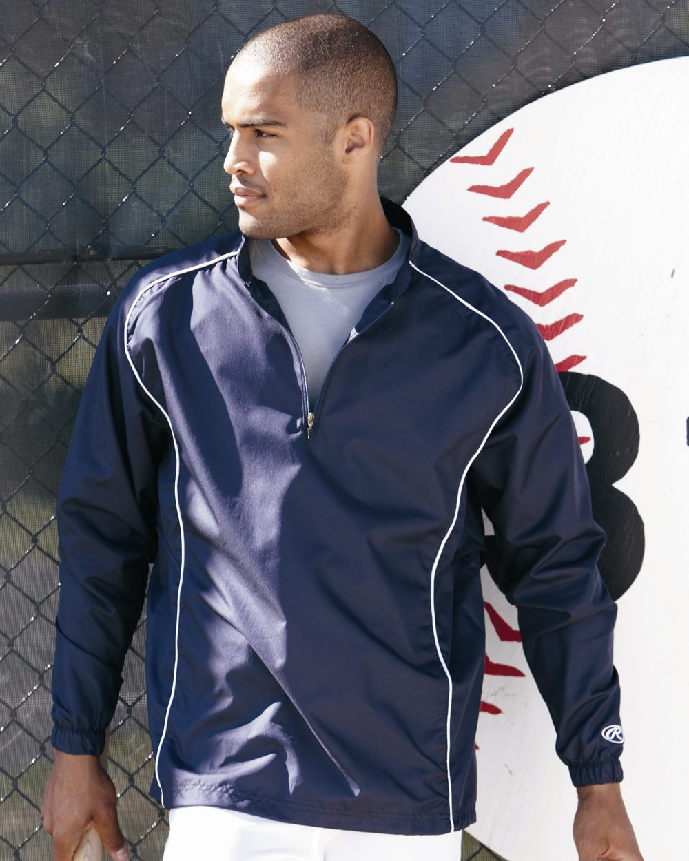 Rawlings 9715 - Quarter-Zip Dobby Pullover