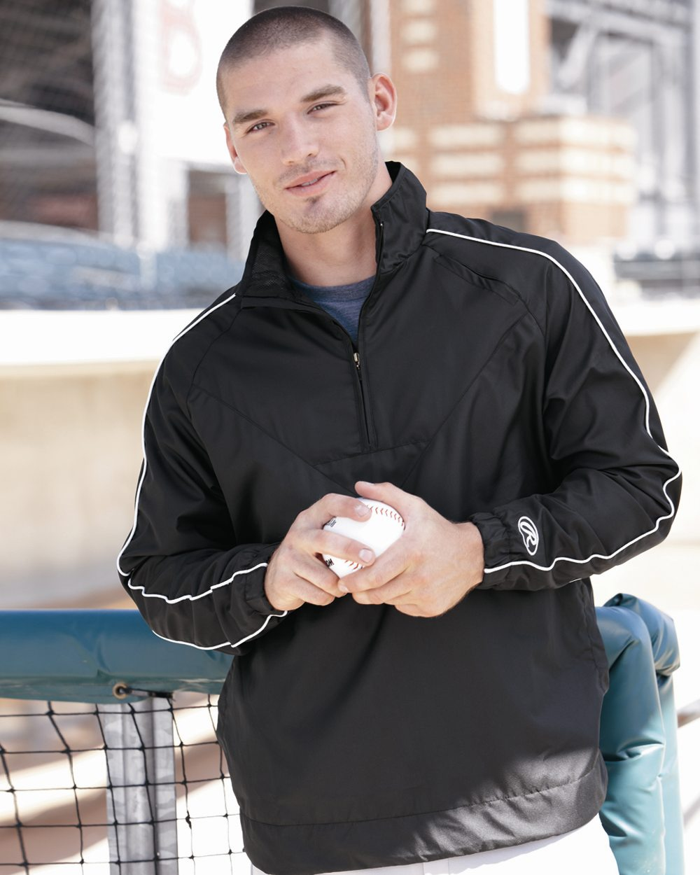 Rawlings 9708 - Quarter-Zip Micro Poly Pullover