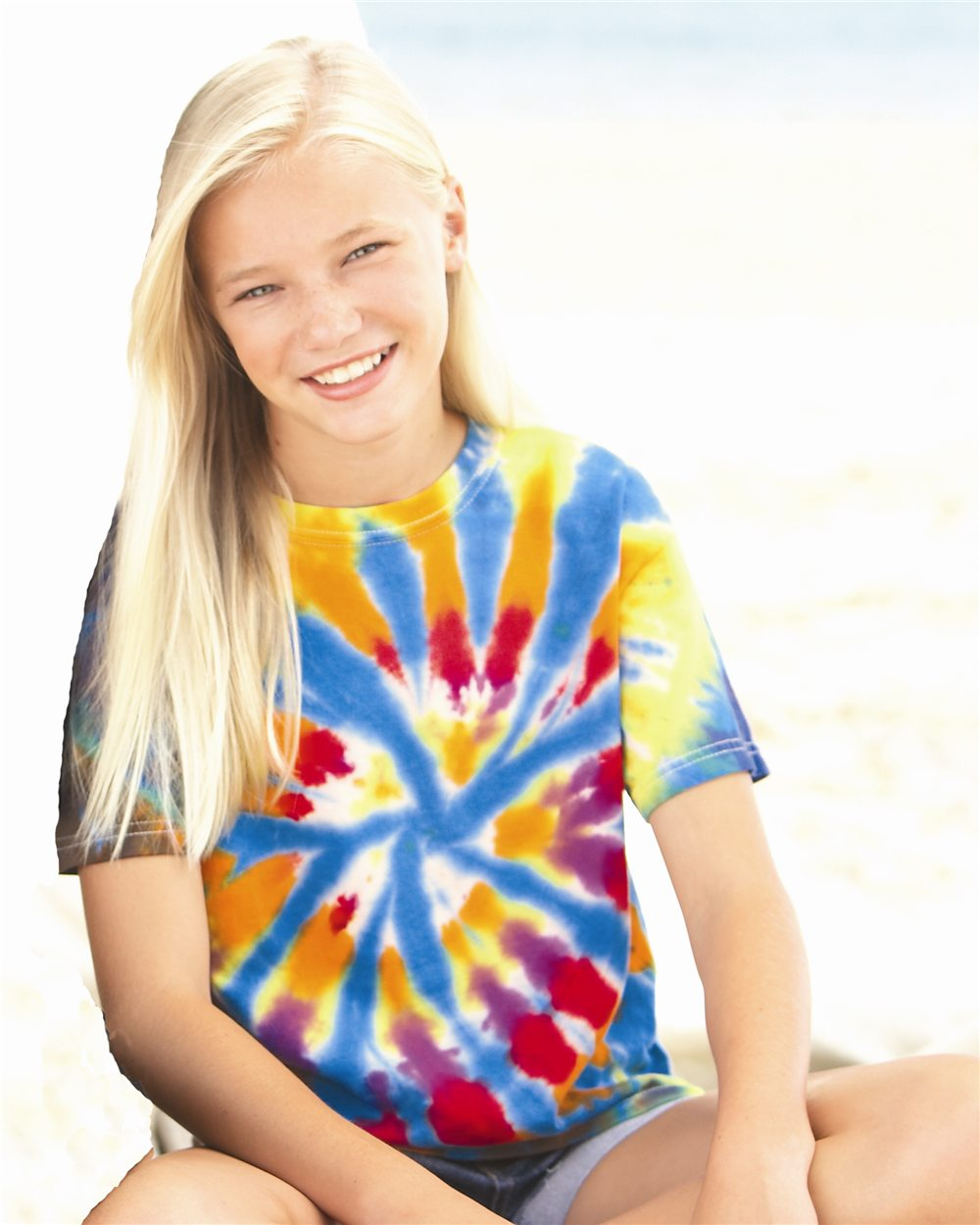 Tie-Dyed 20BTD - Youth Rainbow Cut-Spiral T-Shirt