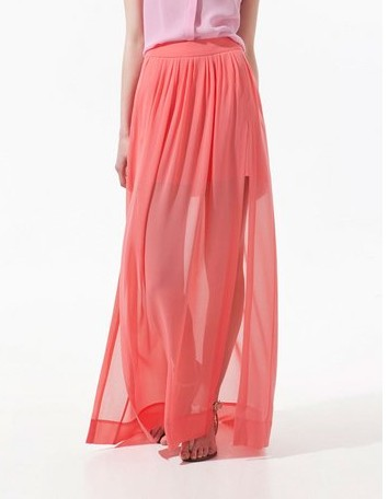 NEW FASHION 609525255 - Chiffon Skirt With Side Vents