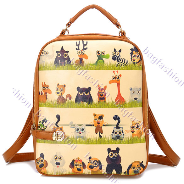 Bag Fashion 11750 - Hot Retro Style College Wind Cartoon ...