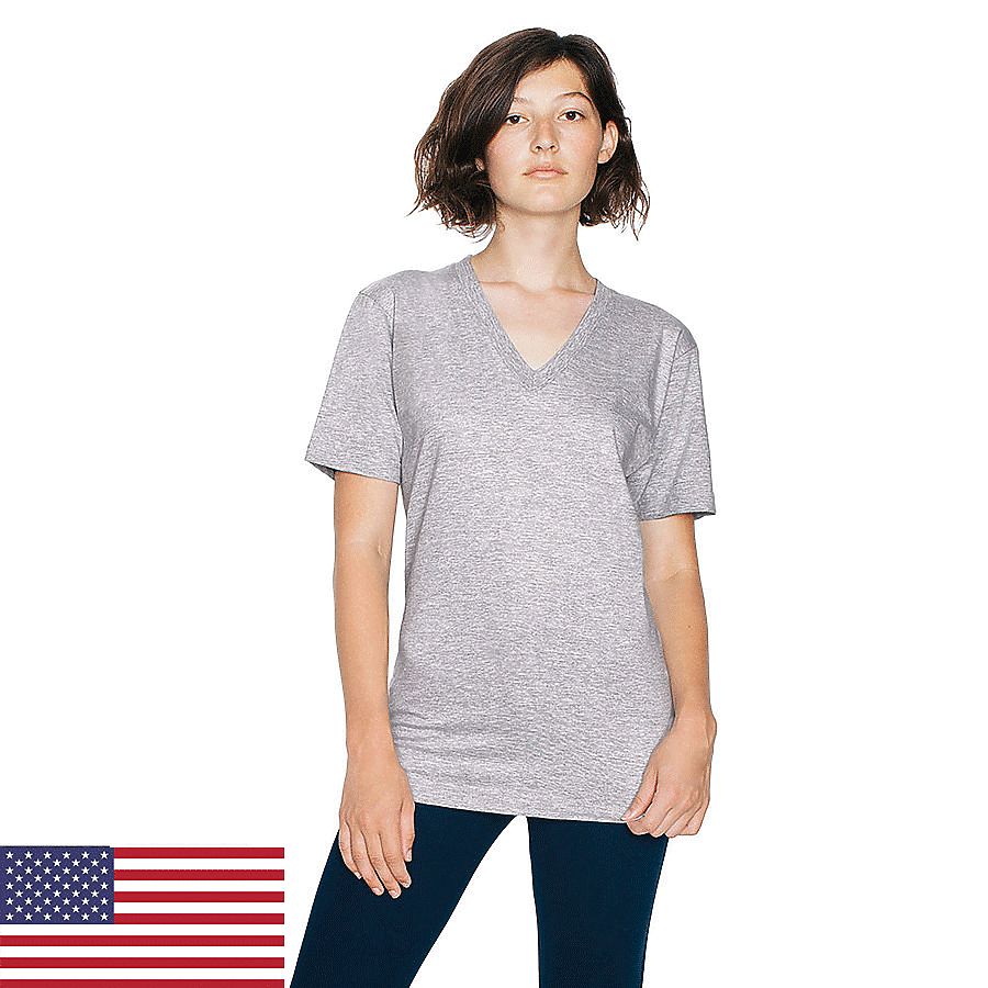 American Apparel 2456 - Fine Jersey Short Sleeve V-Neck ...