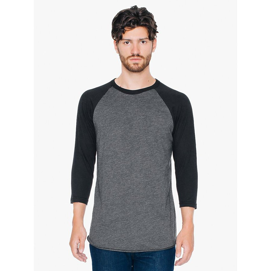 American Apparel BB453 - Poly-Cotton 3/4 Sleeve Raglan