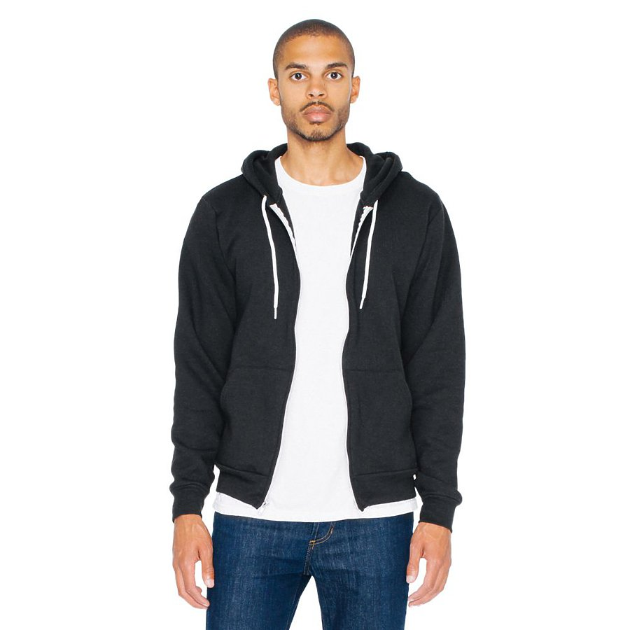 American Apparel F497 - Unisex Flex Fleece Zip Hoodie