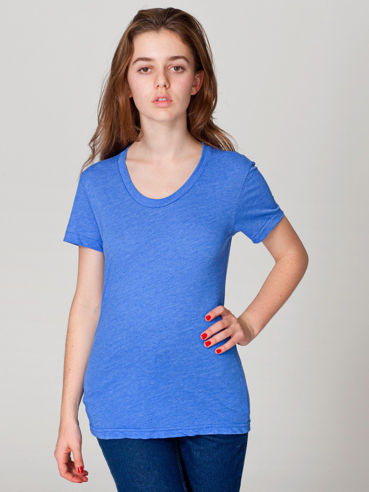 American Apparel BB301 - Womens' Poly Cotton Short-Sleeve ...