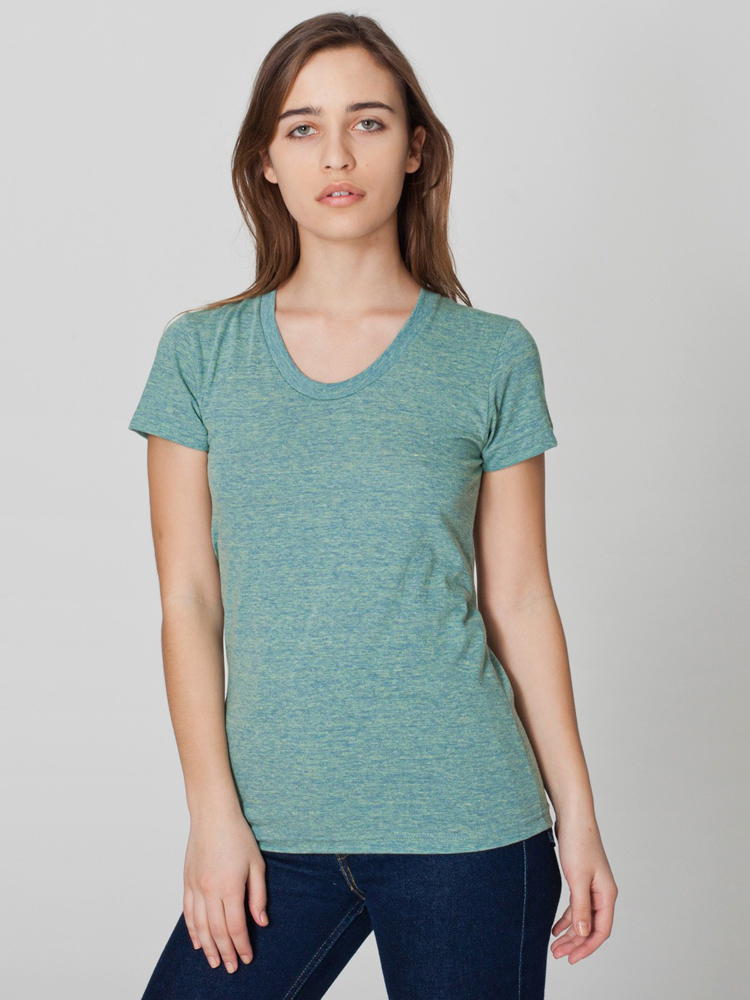 American Apparel TR301 - Womens' Tri-Blend Short-Sleeve ...