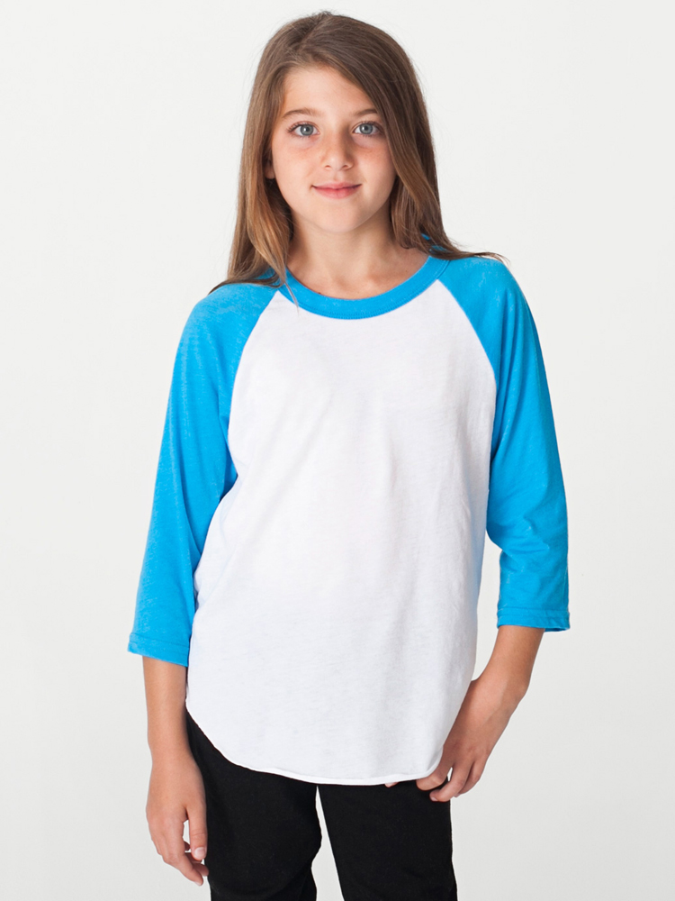 American Apparel BB253 - Youth Poly-Cotton 3/4 Sleeve ...