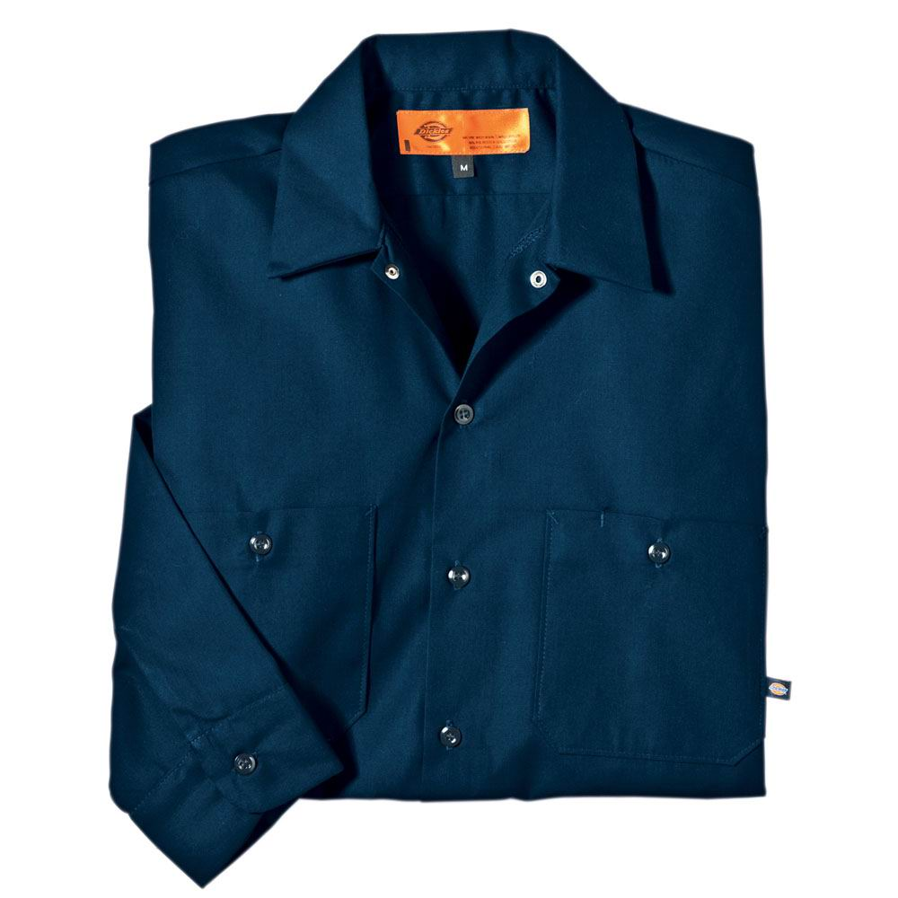 Dickies Occupational LL535 - Long Sleeve Poplin Work ...