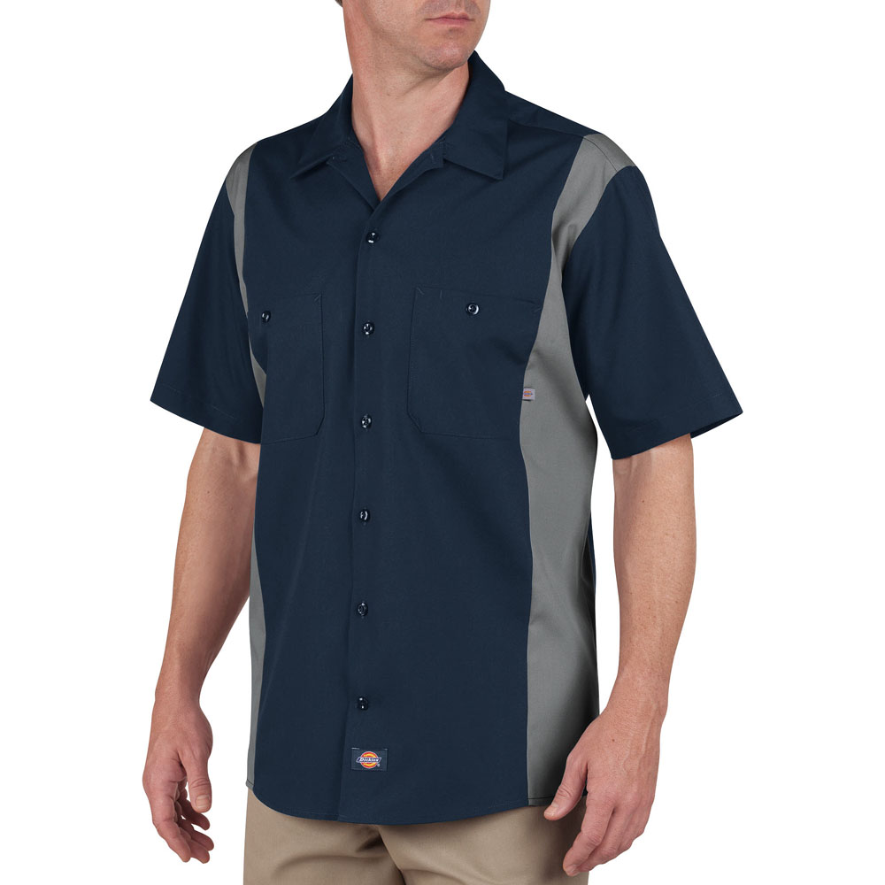 Dickies Occupational LS524 - Short Sleeve Color Block ...