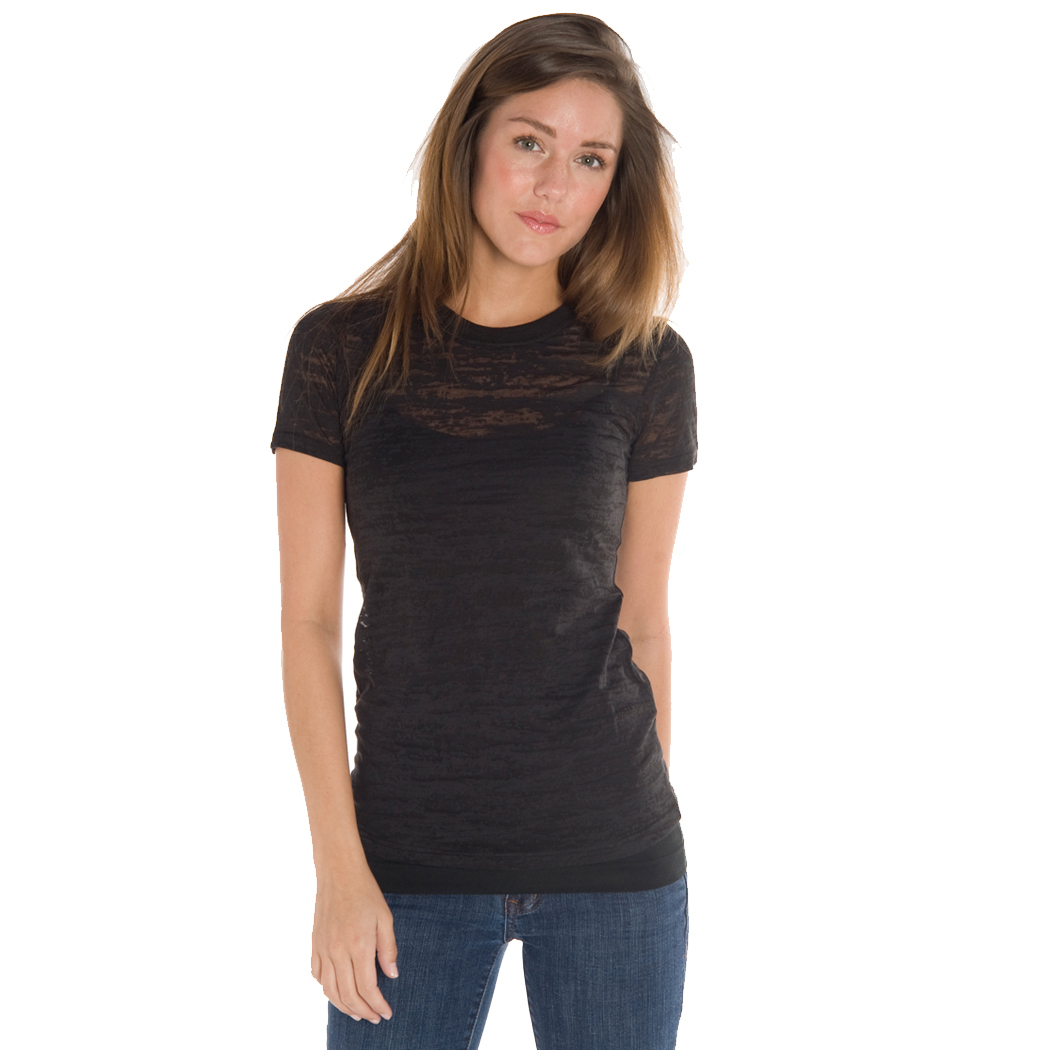 In Your Face H01 - Juniors' Crew Neck Burnout Tee