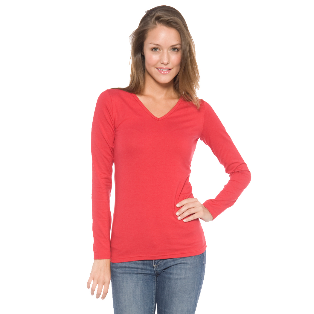 In Your Face A19 - Juniors' V-Neck Long Sleeve