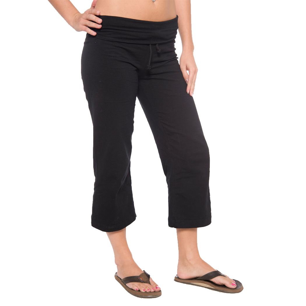 In Your Face A23 - Ladies' Draw String Waist Capri Yoga ...