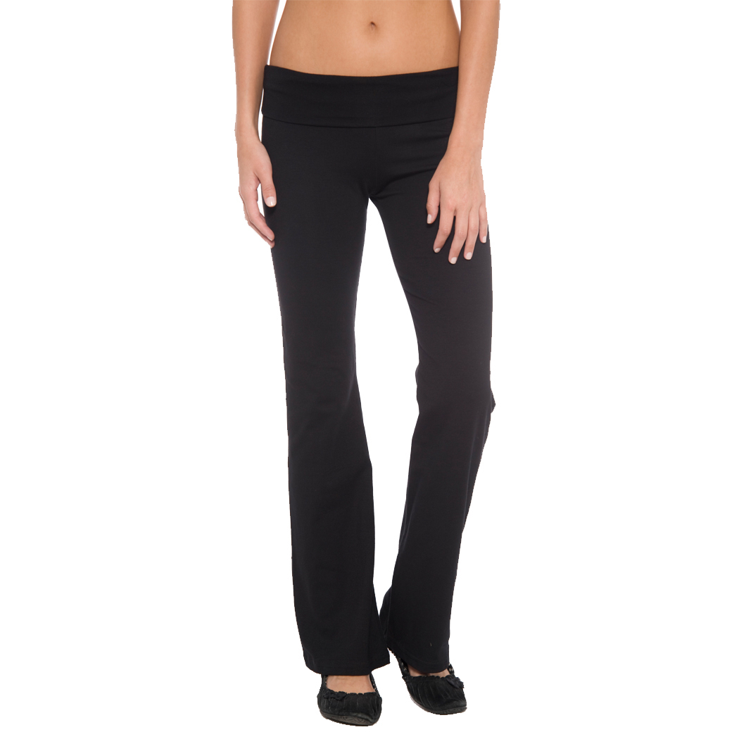 d61bf6899316b8 In Your Face A16 - Juniors' Fold Over Waist Yoga Pant $10.76 - Women's Pants