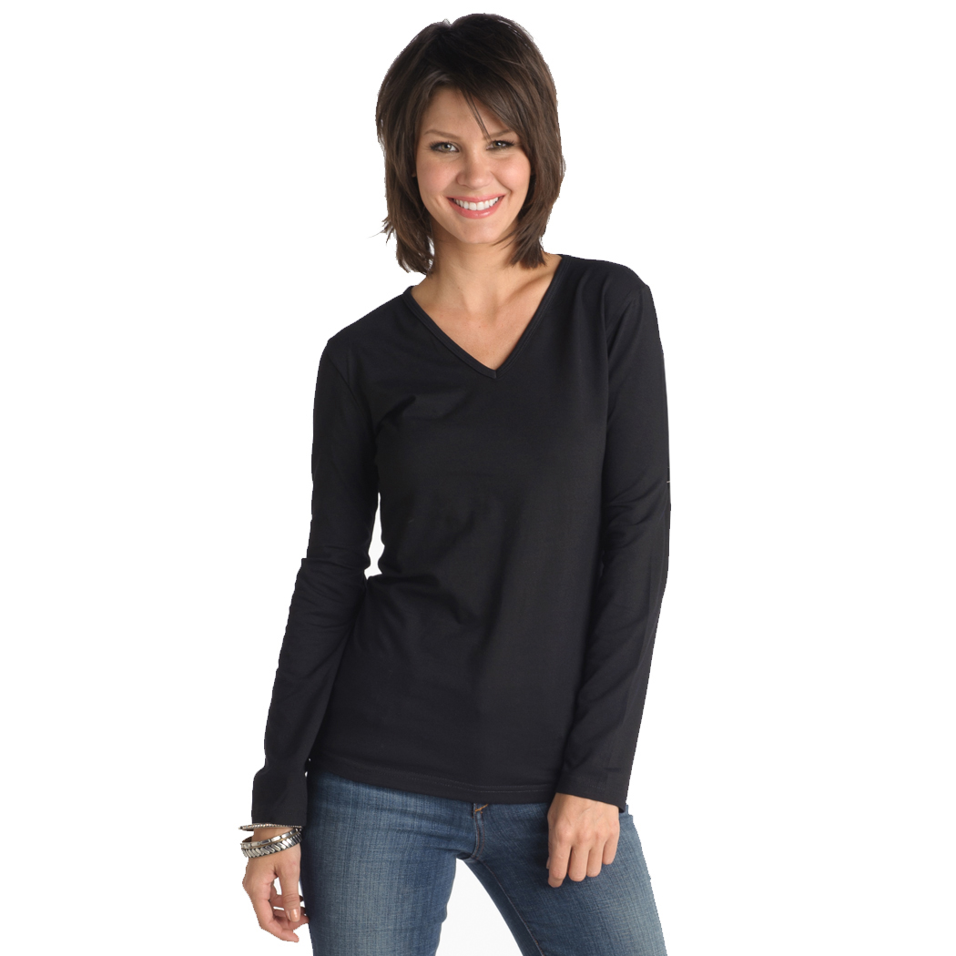 In Your Face A20 - Misses V-Neck Long-Sleeve