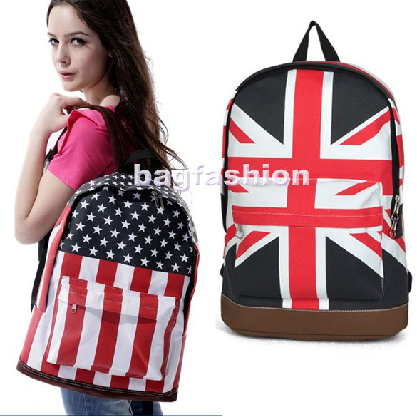 Bag Fashion 5691 - Unisex Canvas Handbag Teenager School ...