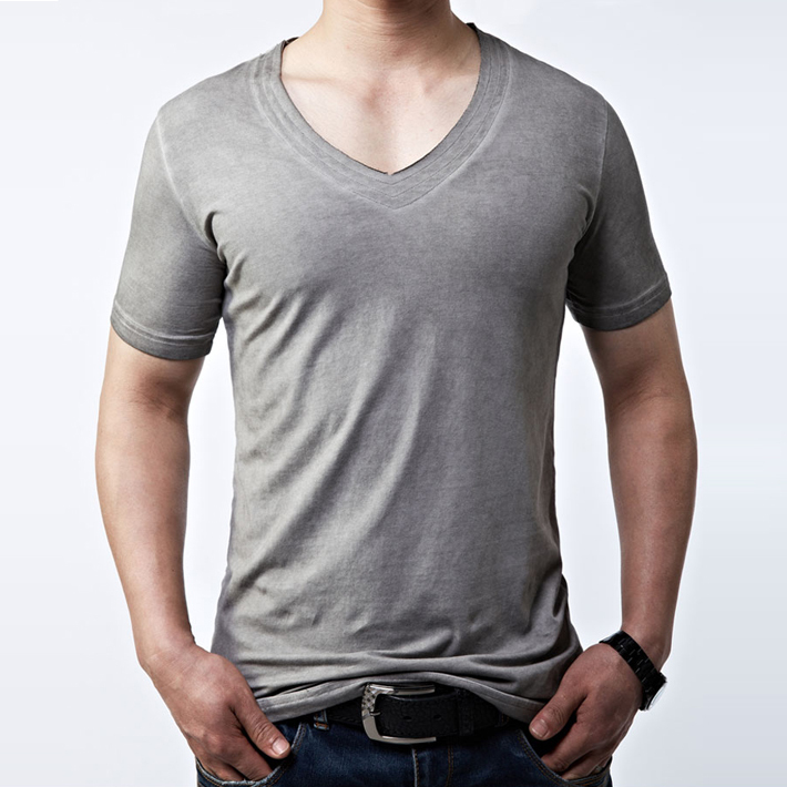 Cage Corner MTS113 - Men V-Neck Cotton T-Shirt