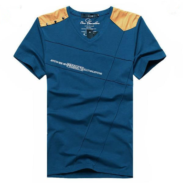 Cage Corner MTS179 - Men V-Neck Short Sleeve T-Shirt ...
