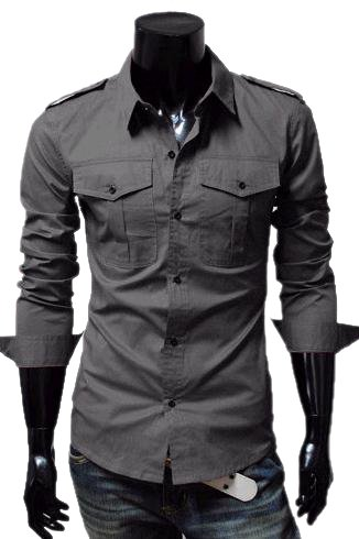 Cage Corner P682 - Men's Long Sleeve Shoulder Knot Shirts
