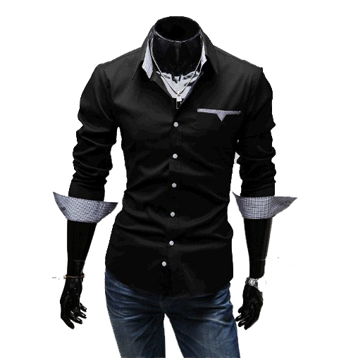 Cage Corner P088 - Men's Long Sleeve Slim Fit Shirts