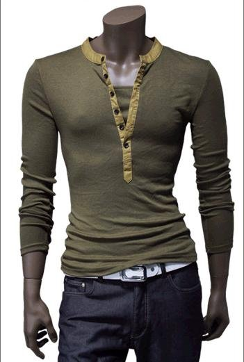 Cage Corner O123 - Men's Long Sleeve V-Neck T-Shirt ...