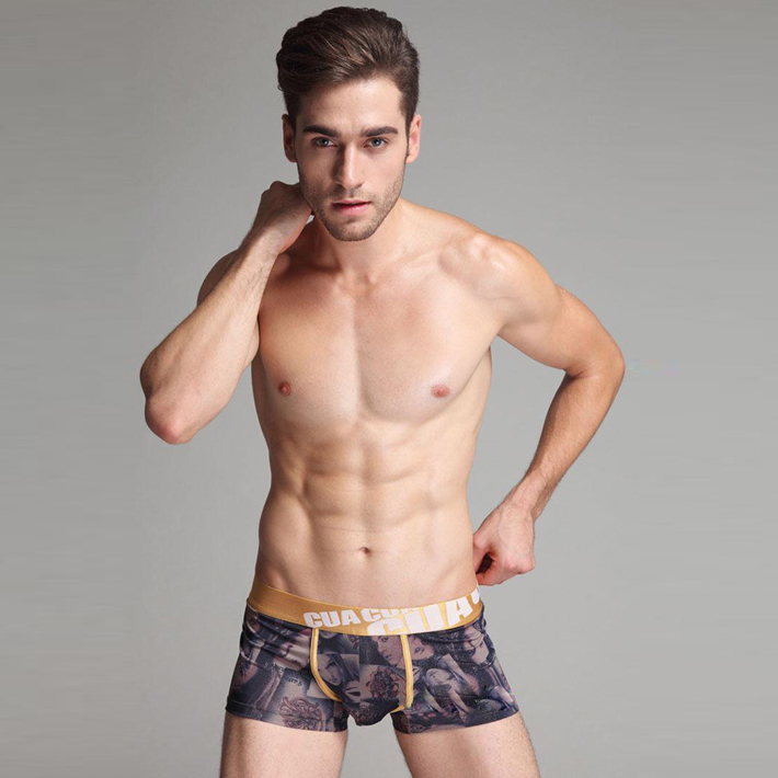 Cage Corner NNP018 - Men's Sexy Milk Silk Briefs