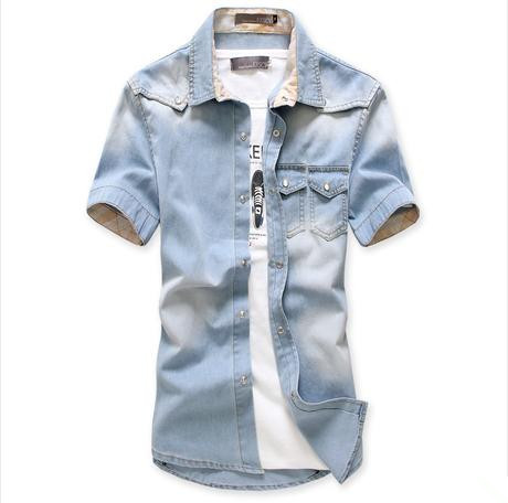 Cage Corner MCS046 - Youth's Jeans Shirt With Stripe ...