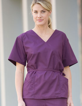 Bill Blass BBH2000 - Ladies Cross-Over Scrub Top