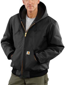 Carhartt J140 - Duck Active Jac/Quilted Flannel Lined
