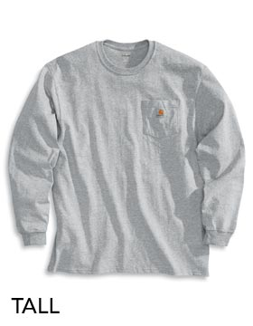 Carhartt CH185T - Long Sleeve Workwear Pocket T-Shirt ...