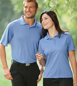 Bermuda Sands 755 - 100% Poly Stripe Polo